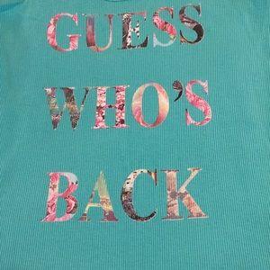 Guess Tops - Guess Racer-back Aqua Tank, NWT, S